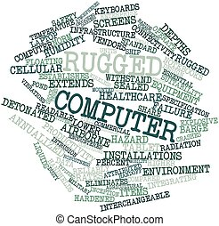 áspero, computador