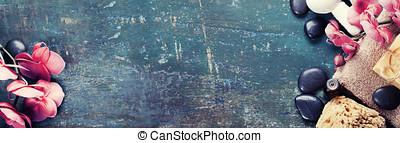 ásványvízforrás, háttér