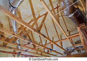 ático, aislamiento, termal, renovación