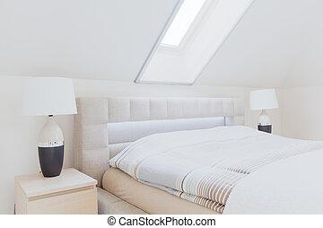 ático, dormitorio
