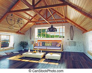 ático, interior