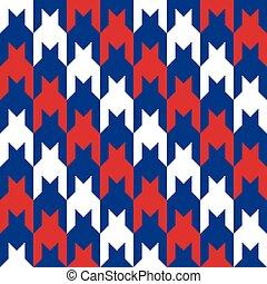 átló, houndstooth, alatt, red-white-blue.eps
