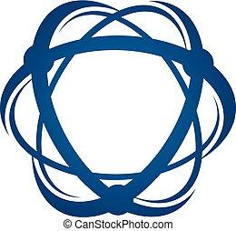 átomo, logotipo, desenho, modelo, vetorial