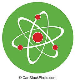 átomo, señal, icon.