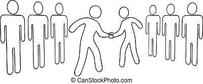 áttekintés, emberek, idegenvezetők, ügy, egyezmény