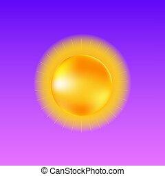 áttetsző, napos, gyakorlatias, időjárás, template., nap ...