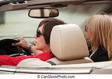 átváltható autó, párosít, fiatal