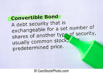 átváltható, kötvény