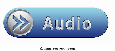 áudio, ícone