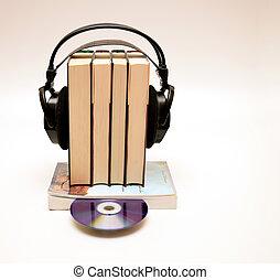 áudio, livro, cd