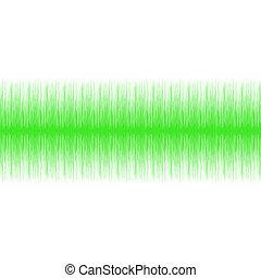 áudio, verde, onda