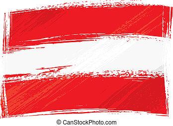 áustria, grunge, bandeira
