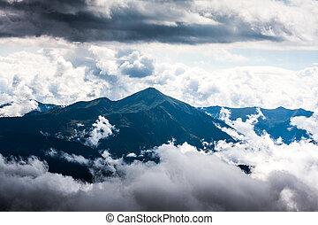 áustria, montanhas