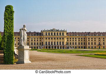 áustria, vista, palácio schonbrunn, famosos, viena