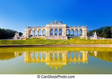 áustria, vista, schonbrunn, gloriette, palácio, viena