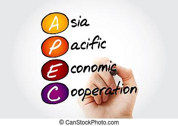 ázsia, -, gazdasági, apec, békés, együttműködés