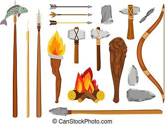 âge, outils, pierre, dessin animé