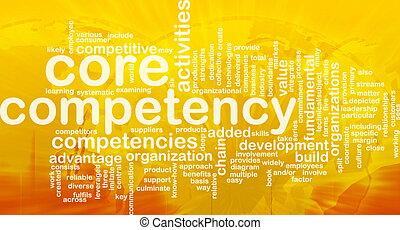 âmago, palavra, nuvem, competency