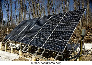 ângulo, painel solar