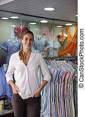ägare, försäljning butiken, portait