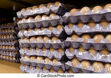 ägg, brickor