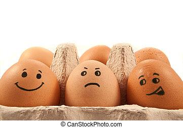 ägg, emotions.