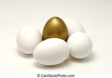 ägg, guld