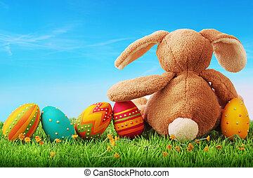 ägg, påsk, färgrik