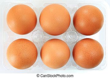 ägg, packat