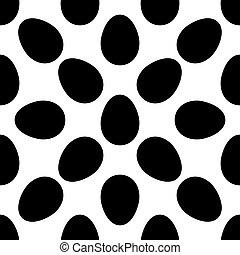 ägg, seamless, mönster, ikon