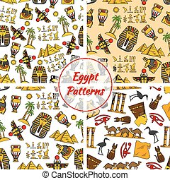 ägypten, kultur, uralt, muster