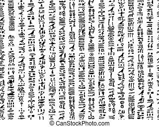ägypten, muster, seamless, design, hieroglyphen, dein