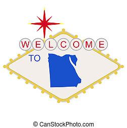 ägypten, willkommenes zeichen