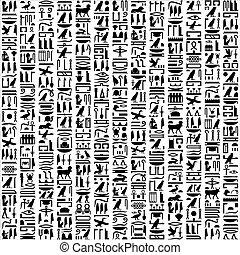 ägypter, hieroglyphisch, schreibende