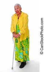äldre, afrikansk amerikansk kvinna