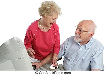 äldre par, direkt