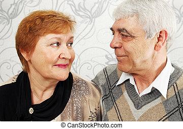 äldre, par