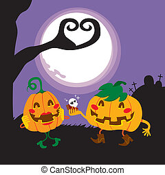älskarna, halloween, pumpa