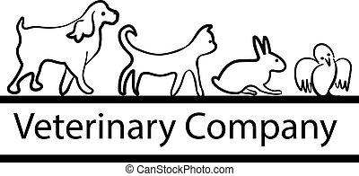 älsklingsdjur, för, veterinär, logo, design