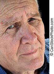 älter, besorgt, mann