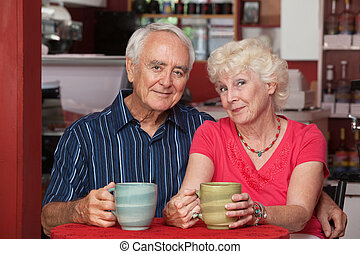 älter, bezaubernd, paar