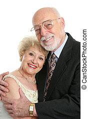 älter, liebe, paar, succesful