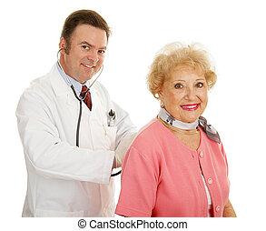 älter, medizin, -, jährlich, physisch