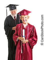 älter, staffeln, und, professor, freigestellt