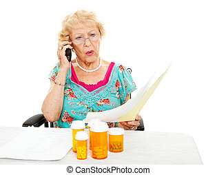 ältere frau, -, medizin, aufwendungen
