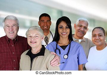 ältere gesundheit, sorgfalt