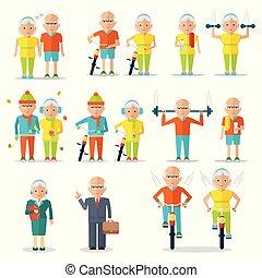 ältere leute, lebensstil