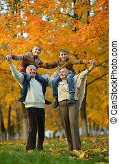 ältere paare, enkelkinder, glücklich