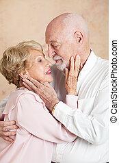 ältere paare, -, noch, leidenschaftlich