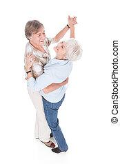 ältere paare, tanzen